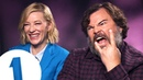 You fell in a gopher hole!: Cate Blanchett Jack Black answer stupid questions