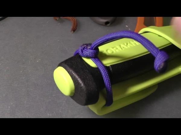 Крепеж для ножа из паракорда (лайфхак с ножами Mora и их пластиковыми ножнами)