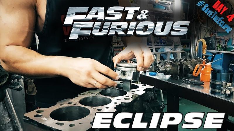 1999 Mitsubishi Eclipse 2G SaveTheEclipse Restoration Vlog day4 engine parts