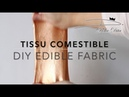 TISSU COMESTIBLE fait maison / DIY Edible Fabric Recipe for cakes