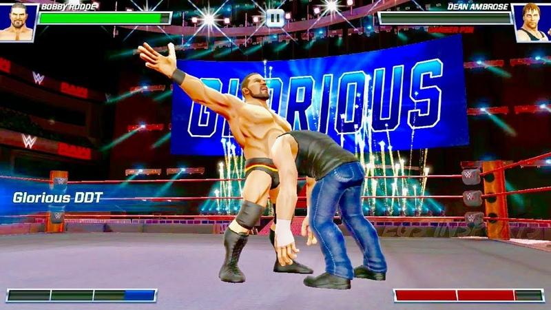 WWE MAYHEM Bobby Roode Nonstop GLORIOUS DDT Finishers Mobile Game