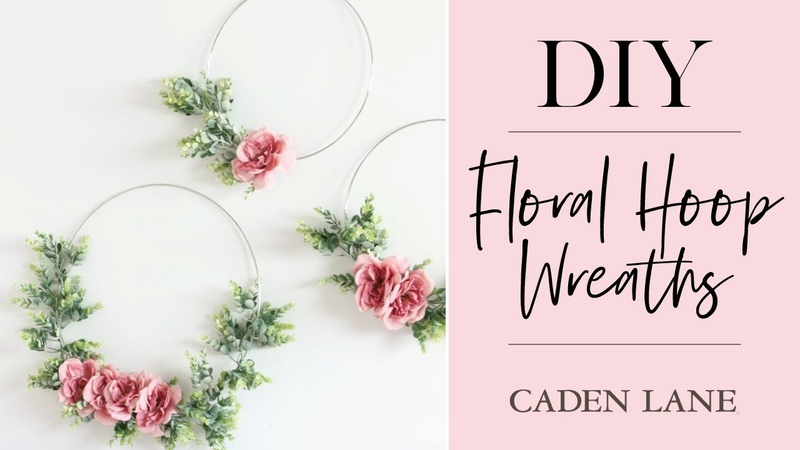 Ellas Floral Hoop Wreath DIY