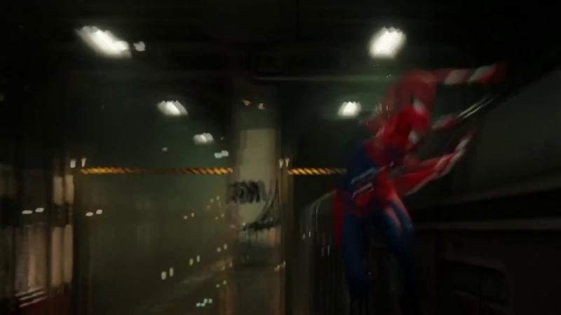 Человек паук и Чёрная кошка,момент из трейлера.
