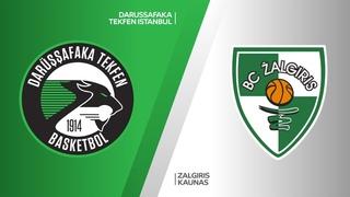 Darussafaka Tekfen Istanbul - Zalgiris Kaunas Highlights   Turkish Airlines EuroLeague RS Round 13