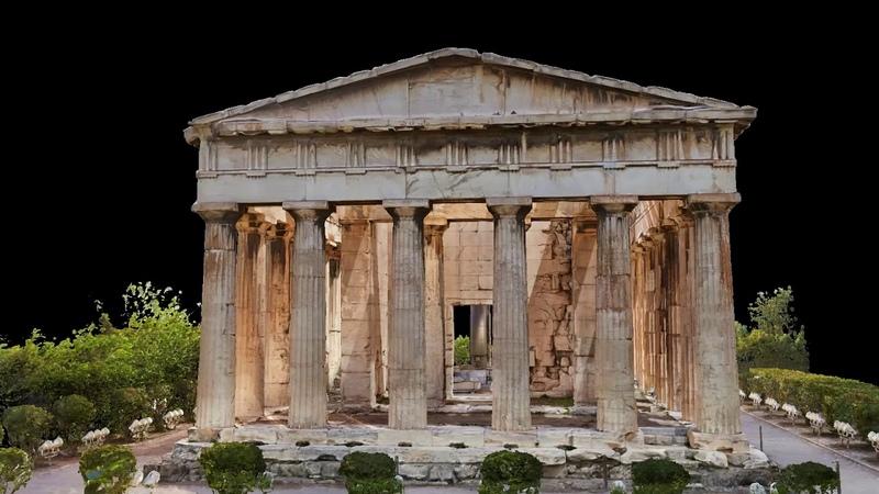 Temple of Hephaestus 3D Model