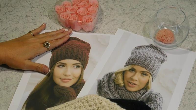 Вязание шапки бини с не обычным донышком в виде домика или лопатки. Подробный мастер класс.