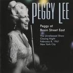 Peggy Lee альбом Peggy At Basin Street East