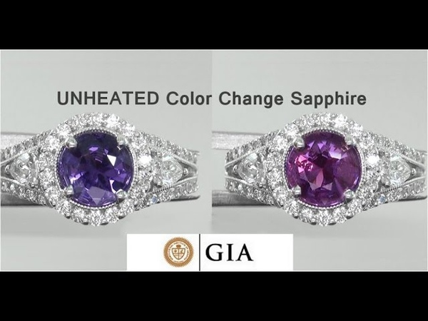 GIA Certified UNHEATED Natural VVS Color Change Sapphire Diamond 18k White Gold Ring - A141483