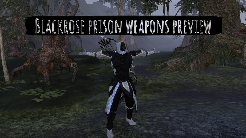 ESO Blackrose prison arena weapons preview demonstration (Murkmire PTS week 1)