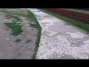А вытоптанная трава возле Театра оперы и балета выглядит крайне некрасиво