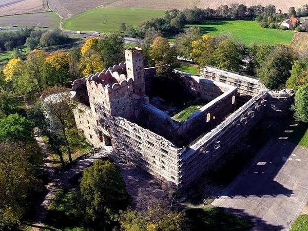 Zamek w Ząbkowicach Śląskich z lotu ptaka