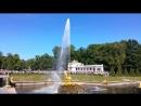Включение фонтанов в Петергофе под Гимн Санкт-Петербурга