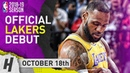 LeBron James Official Lakers Debut Full Highlights vs Trail Blazers 2018.10.18 - 26 Pts, 12 Reb