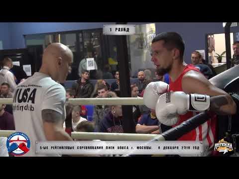 5-е рейтинговые бои Лига бокса г. Москвы – 8.12.18 г. до 75 кг.