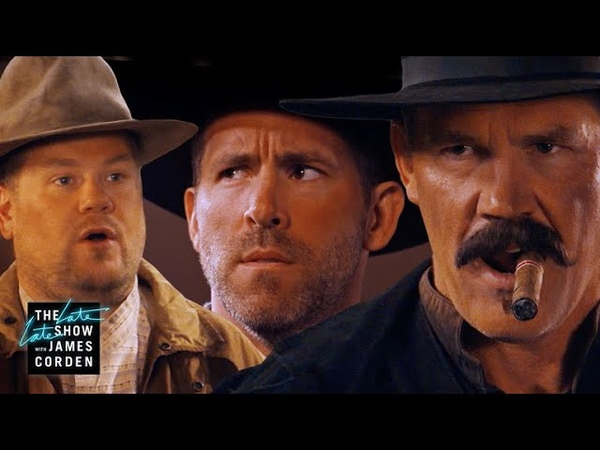 Before 'Deadpool 2' Ryan Reynolds Josh Brolin Did a Western Corden's Sketch of the Week