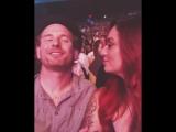Кори Тэйлор и Алисия Дав на концерте Стиви Уандера