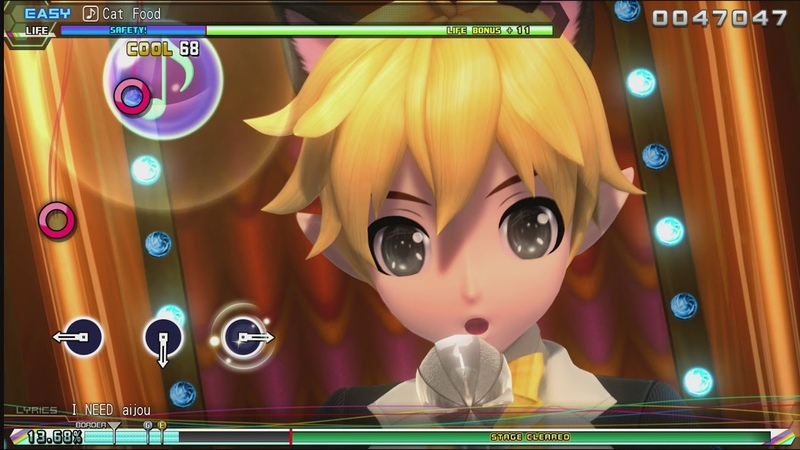 Hatsune Miku: Project DIVA Future Tone - Kagamine Len - Cat food (easy)