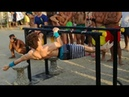 The STRONGEST One Arm FRONT LEVER Pull Up Athlete IN Street Workout - Emanuele Majeli