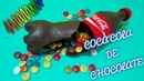 Como hacer una botella de COCA COLA DE CHOCOLATE