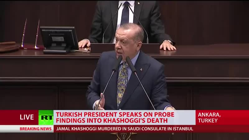 Erdogan details events preceding Khashoggi's death in Saudi consulate