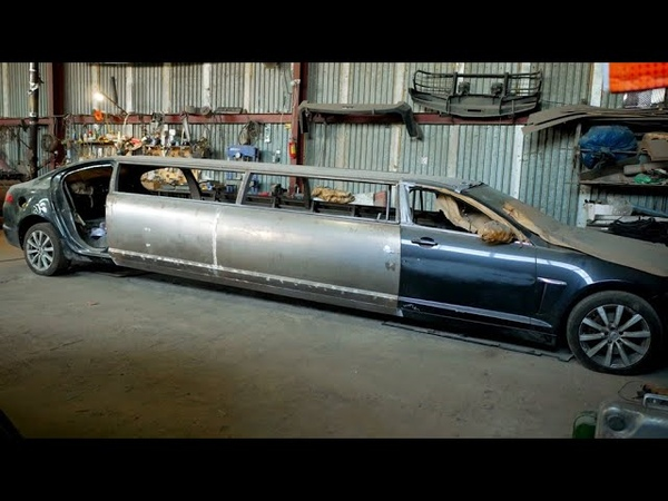 Самодельный лимузин,кузов сварен,подвеска усиленна,карданы установлены. riverdale vk vk12