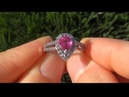 Celebrity Special Certified Jewelry Consigned Authentic Unheated 1930 Estate Ruby Diamond Ring