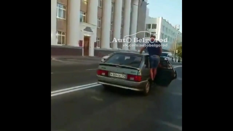 2018-08-13 Рискованная поездка нетрезвого экипажапо центру Белгорода