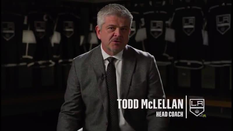 НХЛ. Обращение Тодда Маклеллана к болельщикам Лос Анджелес Кингз!