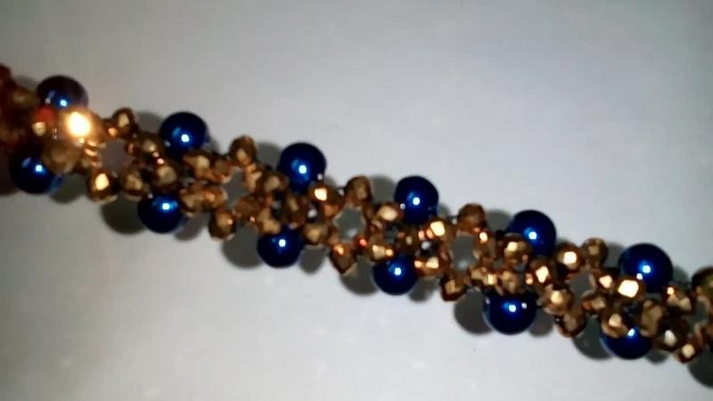 Tutorial: beaded bacelet. DIY. Красивый браслетик из бусин. МК