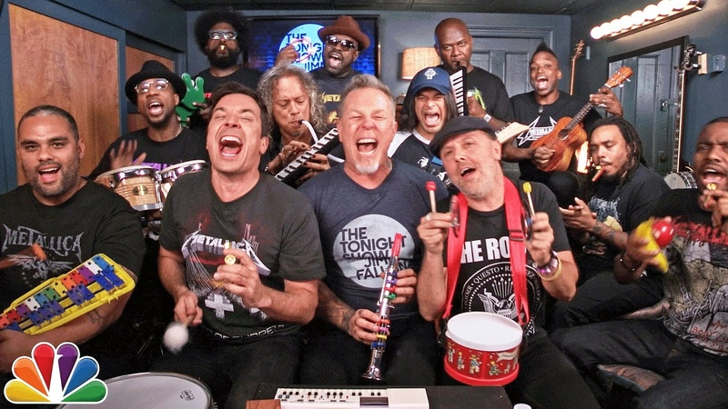 Jimmy Fallon, Metallica The Roots Sing Enter Sandman (Classroom Instruments)