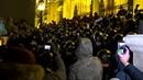ВБудапеште протестующие пыталась прорваться вздание парламента Венгрии