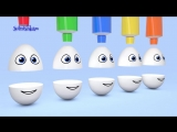 Яйца с сюрпризом Учим цвета Surprise eggs Развивающий мультик для детей