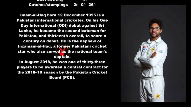 Imam-ul-Haq Pakistani Cricketer Biography With Detail