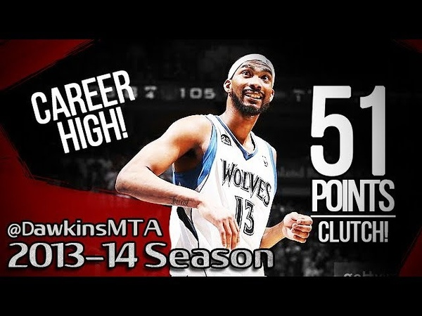 Corey Brewer Full Highlights 2014.04.11 vs Rockets - 51 Pts, Career-HIGH!