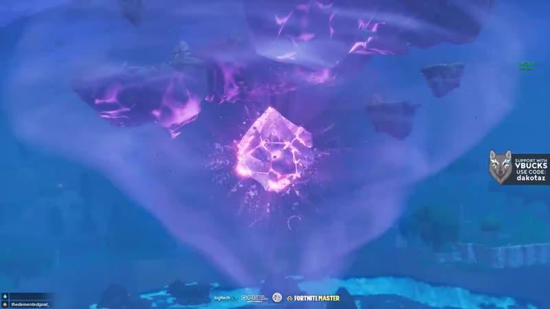 Куб начал трескаться