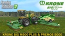 Farming Simulator 17 KRONE BIG M500 PLUS MOWER KRONE PREMOS 5000 BALER