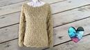 Jersey hojitas en relieve Crochet Teje con Lidia!