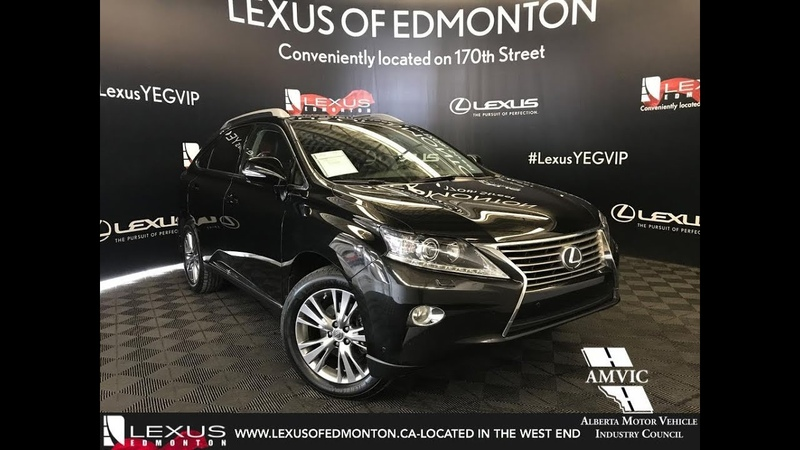 Used Black 2014 Lexus RX 350 Touring Package Walkaround Review Bonnyville Alberta