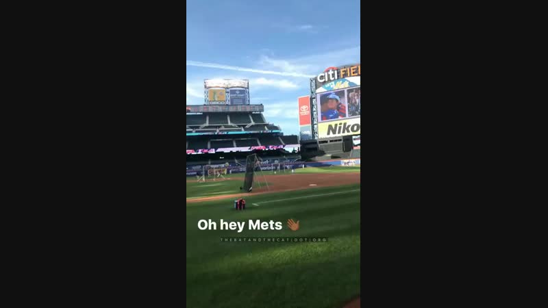 The Gotham cast at Citi Field for the New York Mets game - September 26 2017