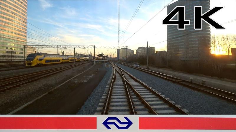 Early morning sunshine 4K Hoofddorp Opstel - Almere Buiten SLT 26feb 2019