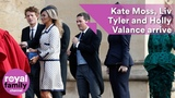Kate Moss, Liv Tyler and Holly Valance arrive at royal wedding