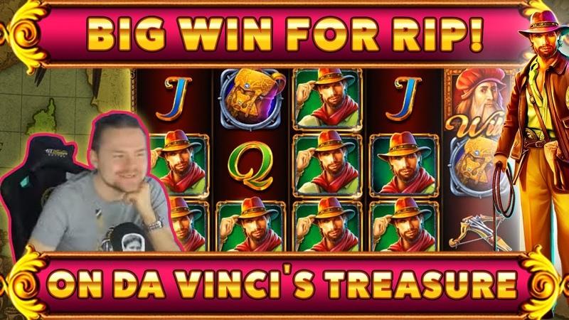 Da Vincis treasure BIG WIN - HUGE WIN on Casino Game from CasinoDaddy Live Stream