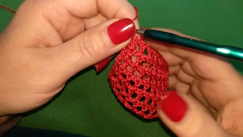 Как вязать узор - Филейная сеточка / How to crochet sirloin mesh