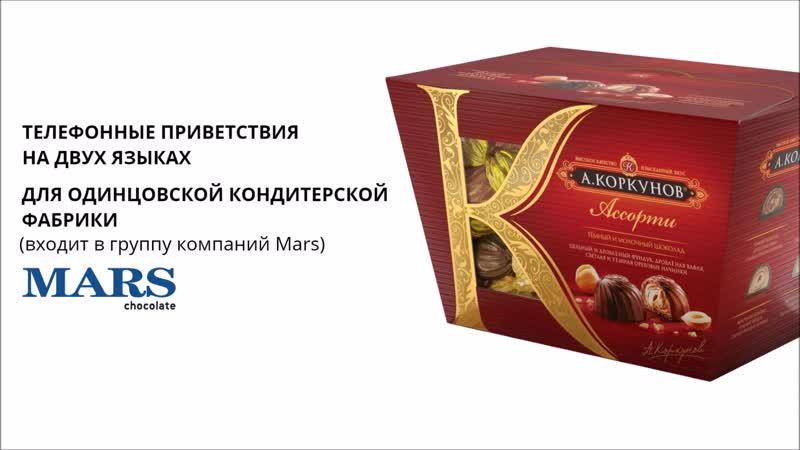 Запись телефонных приветствий IVR ОКФ Mars Коркунов главзвук рф