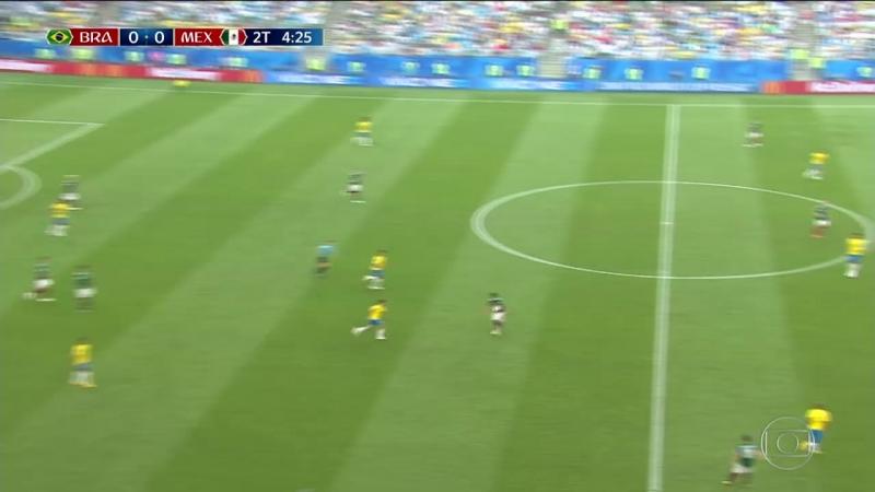 Copa do Mundo 2018 Brasil 2 x 0 México Oitavas de final Globoplay