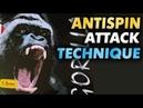 DR NEUBAUER Gorilla 1.0 mm antispin - push attack technique on YINHE (Milkyway) 980 Pro Def