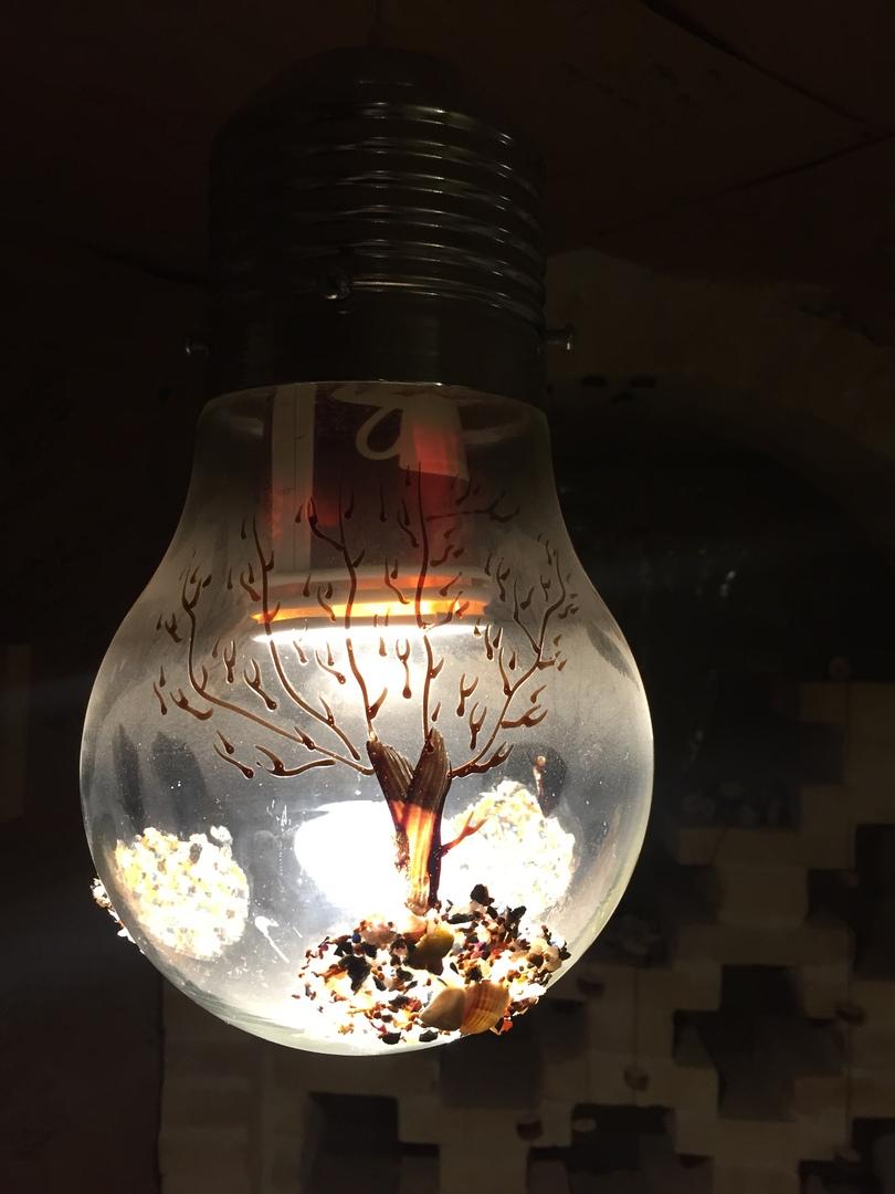 Украшение лампочек