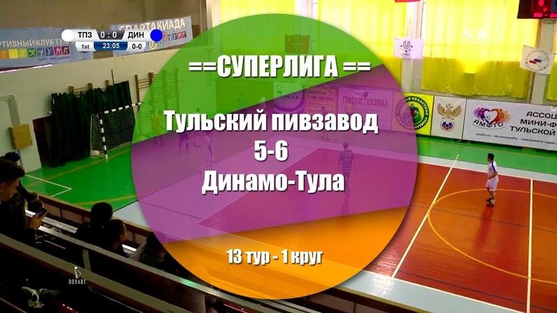Тульский пивзавод - Динамо-Тула 5:6(3:4) Обзор матча - 13 тур СуперЛига АМФТО