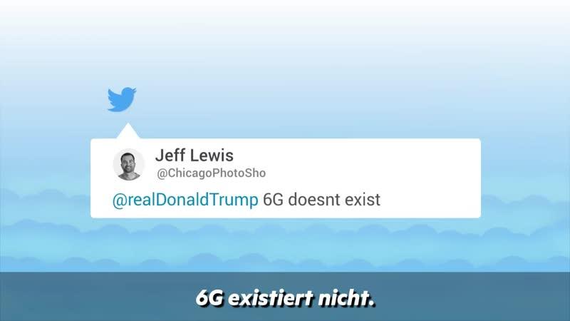 Ich will 5G und sogar 6G Technologie Trumps Forderung nach schnellerem Netz verwirrt Twitter