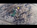 «Бурдж-Халифа» — небоскрёб высотой 828 метров в Дубае, Рабочая команда проверяет верхнюю часть шпиля